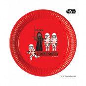 8 stk Papptallrikar 23 cm - Star Wars Paper Cut
