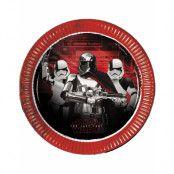 8 stk Papptallrikar 23 cm - Star Wars The Last Jedi