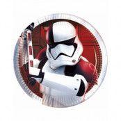 8 stk Små Papptallrikar 20 cm - Star Wars The Last Jedi