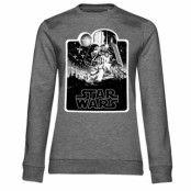 Star Wars Deathstar Poster Girly Sweatshirt, Sweatshirt