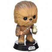 Pop! Star Wars E8 Chewbacca With Porg #195 Vinyl Bobblehead