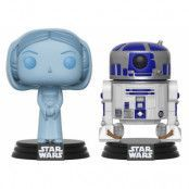 POP! Vinyl Star Wars - Holographic Leia & R2D2 2-Pack Exclusive