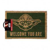 Star Wars Dörrmatta Yoda Welcome You Are