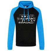 Star Wars Distressed Logo Baseball Hoodie, Baseball Hooded Pullover