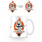 Star Wars Force Awakens Mugg Fire Division
