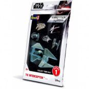 Star Wars - Level 2 Easy-Click Snap Model Kit TIE Interceptor