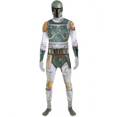 Licensierad Boba Fett Star Wars - Orginal Morphsuit Kostym med