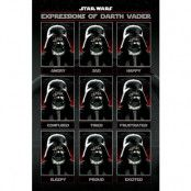 Star Wars Poster Expressions Of Darth Vader