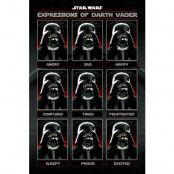 Star Wars Poster Expressions Of Darth Vader