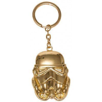 Star Wars - Golden Stormtrooper Metal Keychain