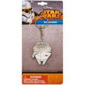 Star Wars - Millenium Falcon Metal Keychain