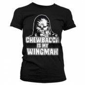Chewbacca Is My Wingman Girly Tee, Girly T-Shirt