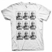 Moods Of A Stormtrooper T-Shirt, Basic Tee