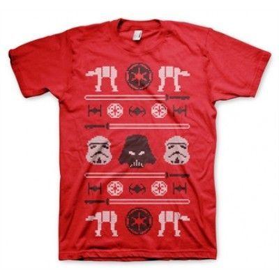 Star Wars AT-AT X-Mas Knit T-Shirt, Basic Tee