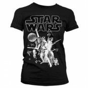 Star Wars Classic Poster Girly Tee, Girly T-Shirt