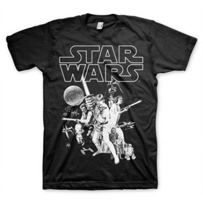 Star Wars Classic Poster T-Shirt, Basic Tee