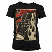 Star Wars Darth Vader Flames Girly T-Shirt