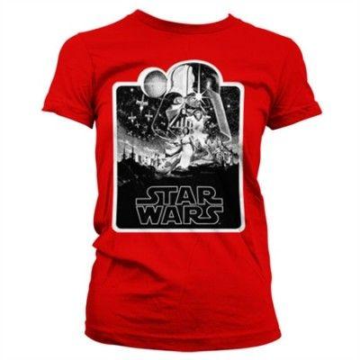 Star Wars Deathstar Poster Girly T-Shirt, Girly T-Shirt