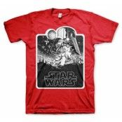 Star Wars Deathstar Poster T-Shirt, Basic Tee