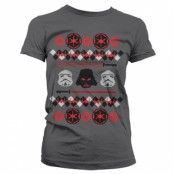 Star Wars Imperials X-Mas Knit Girly T-Shirt, Girly Tee