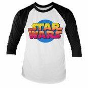 Star Wars Retro Logo Base Ball Long Sleeve Tee, Base Ball Long Sleeve T-Shirt