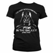 Star Wars The Most Interesting Man In The Galaxy Girly T-Shirt