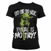 Star Wars There Is No Try - Yoda Girly T-Shirt