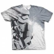Star Wars - Trooper Allover T-Shirt, Modern Fit Polyester Tee