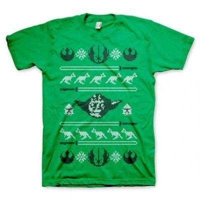 Star Wars Yodas X-Mas Knit T-Shirt, Basic Tee