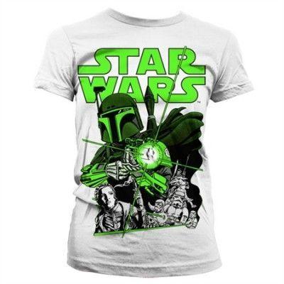 Vintage Boba Fett Girly T-Shirt, Girly T-Shirt