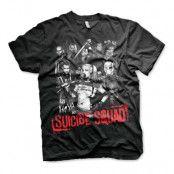 Suicide Squad Svart T-shirt - X-Large