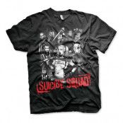 Suicide Squad Svart T-shirt - XX-Large