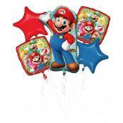 Ballongbukett Super Mario - 5-pack