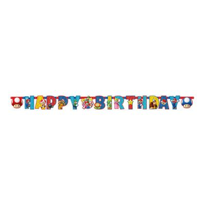 Girlang Super Mario Happy Birthday