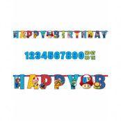 Happy Birthday Banner 320 cm - Super Mario Party