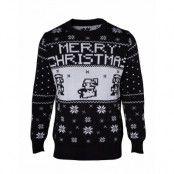 Jultröja Nintendo Super Mario Christmas Svart, SMALL