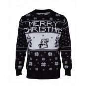 Jultröja Nintendo Super Mario Christmas Svart, XL