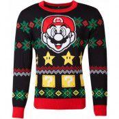 Licensierad Svart Super Mario Jultröja