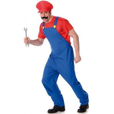 Mario Inspirerad Herrkostym