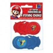Super Mario brödrar frisbees - 4 st