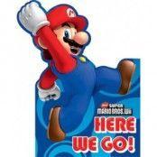 Super Mario brödrar inbjudningskort - 6 st