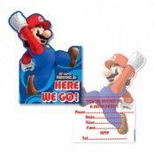 Super Mario Inbjudningskort