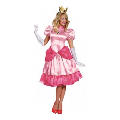 Prinsessan Peach Deluxe Maskeraddräkt - Small