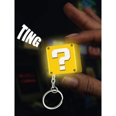Super Mario - Question Block Light-Up Keychain with Sound