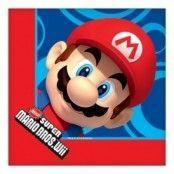 Super Mario & bröder - pappersservetter 2-lagers - 16 st