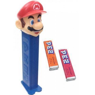 Super Mario Pez-Hållare med 2 stk Pez Förpackningar
