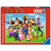 Super Mario, Pussel - Gruppbild - 1000 Bitar