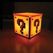 Super Mario Question Block Lampa