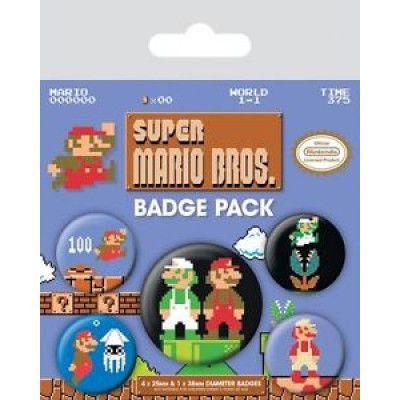Super Mario Bros Knappar 5 st