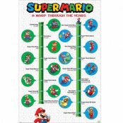 Super Mario, Maxi Poster - Warp Through the Years
